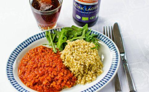 Sojafärsgryta med quinoa