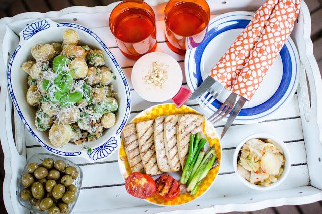 Grillmiddag med tofu