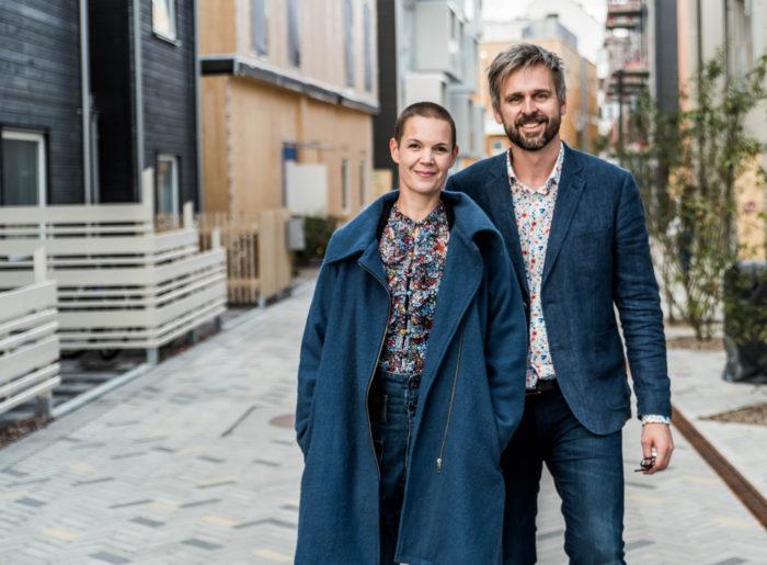 Sara Bäckmo och Johannes Wätterbäck från podcasten Två odlare emellan