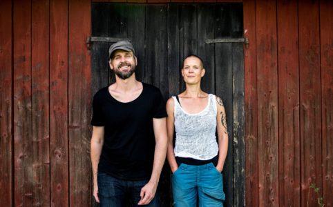 Johannes Wätterbäck och Sara Bäckmo från podcasten Två odlare emellan