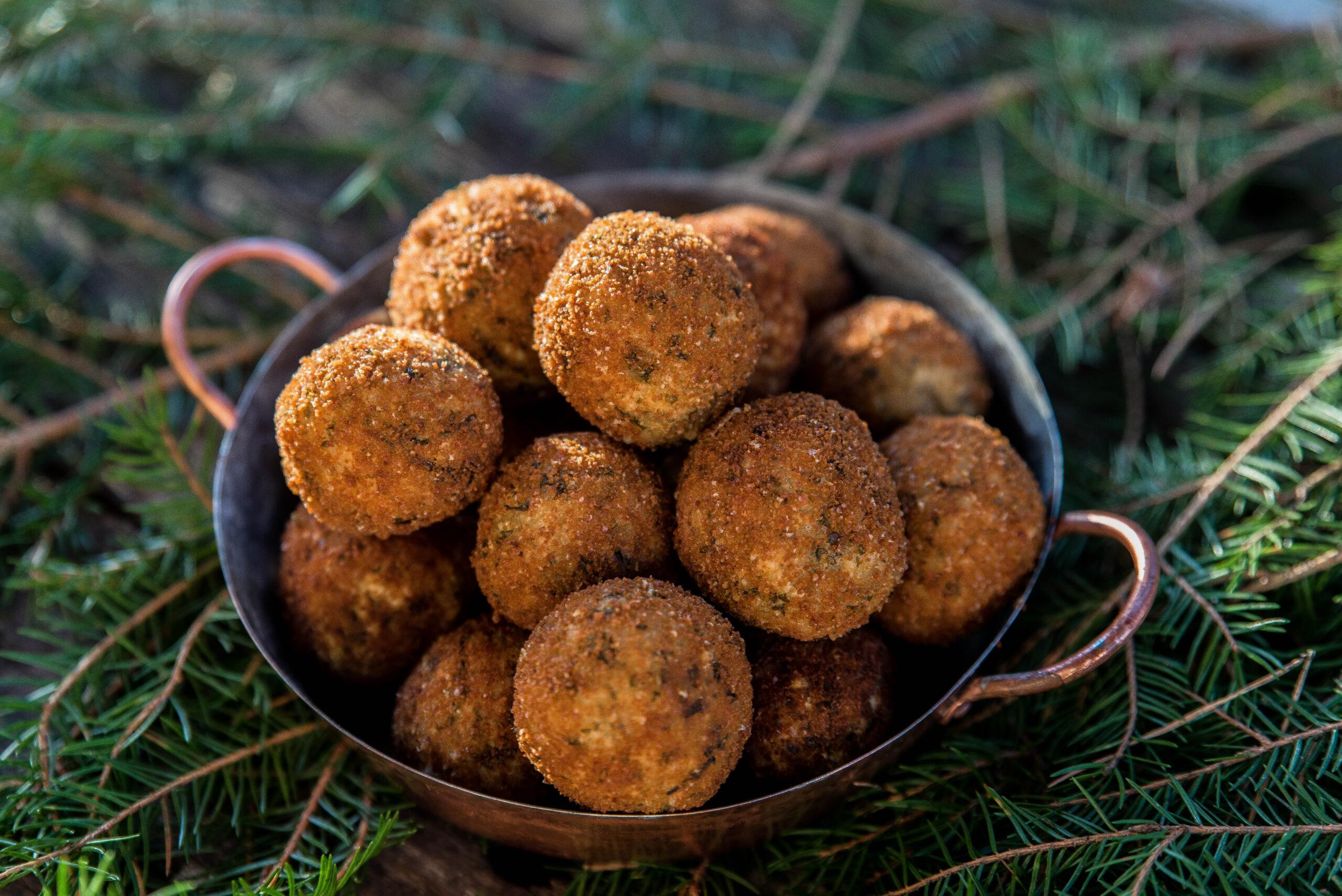 Arancini – friterade risbollar med parmesan