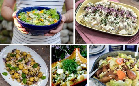 5 olika potatissallader